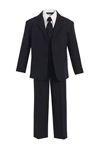 Big Boys Formal Suit with Tie black size 12