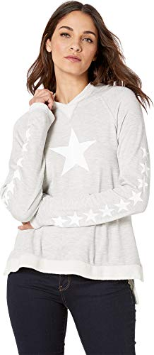 - Hard Tail Women's Raglan Hoodie Heather/White Stars Small