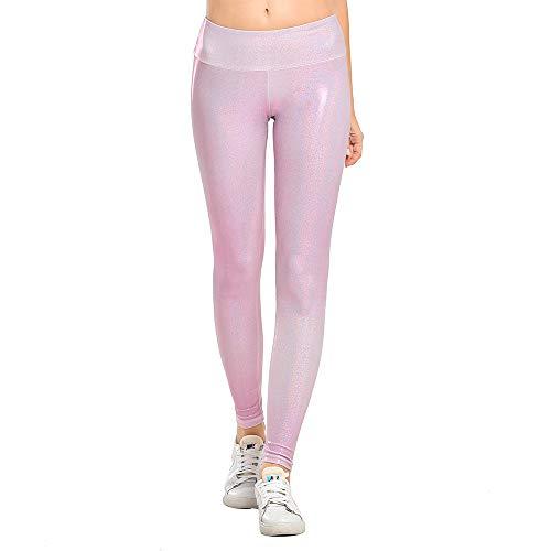 Houmous Women's Workout Ankle Leggings, Tummy Control Full-Length Yoga Pants(Rose,XS)