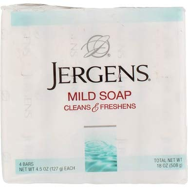 Jergens Mild Soap Cleans & Freshens 4 bars, 4.5 oz( Packs of 24)