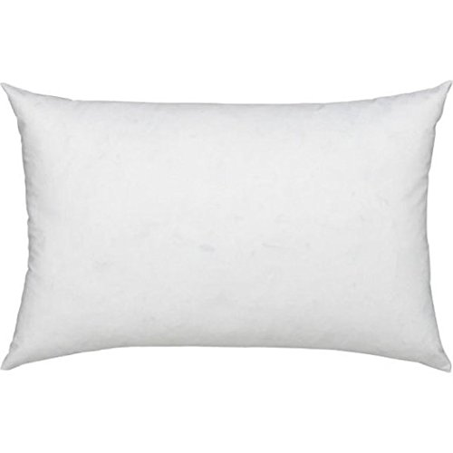 100% Cotton Cover Highest Quality, Feather & Down Pillow, Best use for Decorative Pillows & for Firm Sleepers, Dust Mite Resistant (not polyester filled) Size 12 x 34 Red Down Filled Accent Pillow