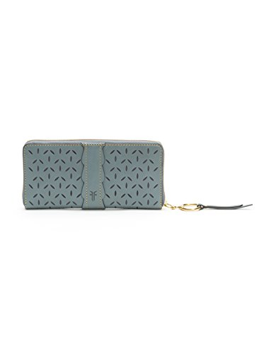 Ilana Perf Zip Around Wallet Oiled Veg Wallet, Steel Grey, One Size by FRYE