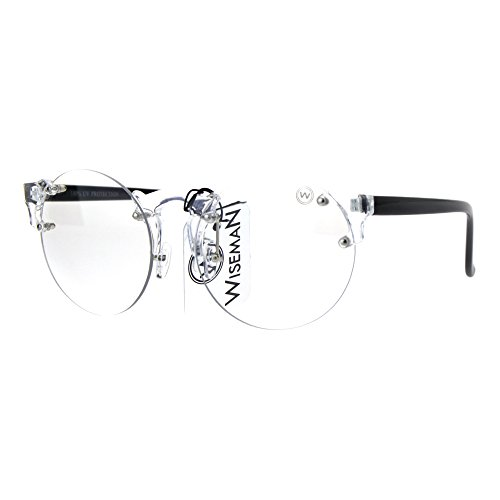 Mens Hipster Nerdy Retro Clear Circle Round Lens Eye Glasses Clear - Glasses Nerdy Guy