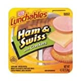 Kraft Oscar Mayer Lunchable Ham and Swiss Cheese, 4.5 Ounce - 16 per case.