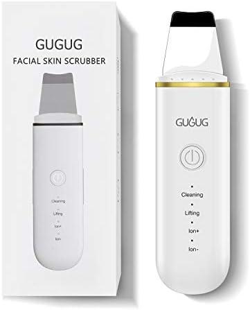 Limpiador Ultrasónico Facial, Skin Scrubber, Exfoliación de Cara, 4 Modos para Limpiar los Poros y Cuidar la Piel, USB Recargable, Dispositivo de Belleza
