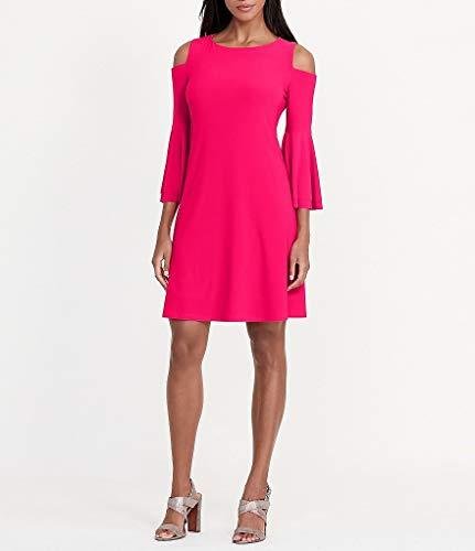 Lauren Ralph Lauren Womens Cold Shoulder Bell Sleeves Party Dress Pink (Ralph Lauren Pink Dress)
