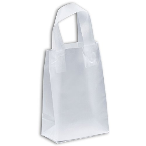 Bagsource%C2%AE Clear Frosted Plastic Shopping product image