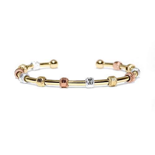 Golf Goddess Stroke/Score Counter Bracelet - Tri Color with Gold Cuff