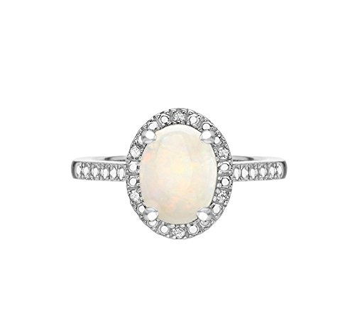 Carissima Gold - Bague Solitaire - Or blanc 9 cts - Diamant 0.03 cts - T52 - 5.48.6790