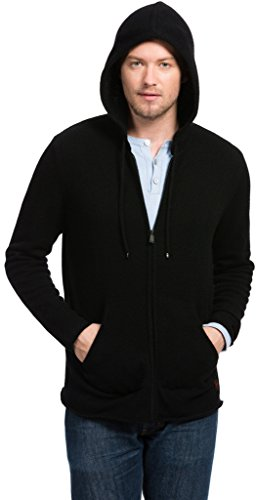 Citizen Cashmere Wool Hoodie - 100% Tibetan Yak Wool (Black M) 42 152Y-02-02