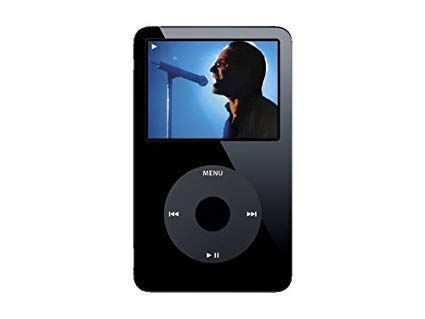 Apple iPod Classic Video 30GB Black 5th Generation - Discontinued by Manufacturer Comes with Generic Ear pods Wall Pug and Charging Wire Packaged in White -