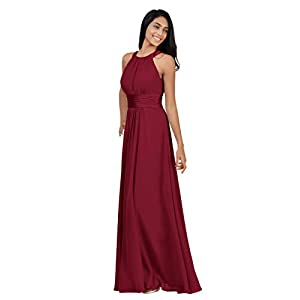 Alicepub Bridesmaid Dresses Long for Women Formal Evening Party Prom Gown Halter