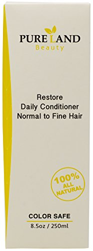 PURELAND Beauty's Restore Daily Conditioner is Calming, Scalp Therapy, Vegan, Silicone Free, Sulphate Free, Paraben Free, Chemical Free, Cruelty Free, (8.5 Ounces) Gentle, Daily Use for Men and Women