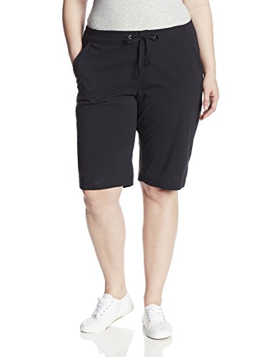 Columbia Women's Plus-size Anytime Outdoor Plus Size Long Short Shorts, black, 24Wx13 from Columbia