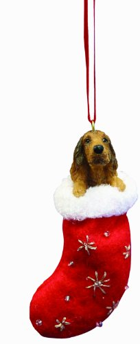 Irish Setter Christmas Stocking Ornament with