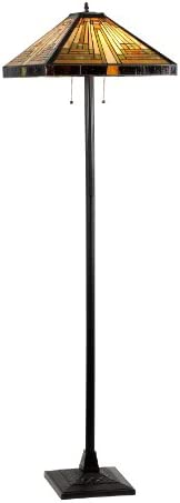 Chloe Lighting CH33359MR18-FL2 Innes Tiffany-Style Mission 2-Light Floor Lamp