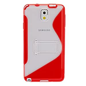 TPU Transparent S Shaped Back Case Cover with Stand for Samsung Galaxy Note3 (Assorted Colors) , Rose