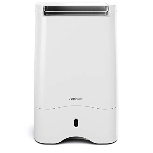 Pro Breeze Desecante Deshumidificador 10L con 4 Modos, Pantalla Digital, Drenaje Continuo y Filtro Silver Nano