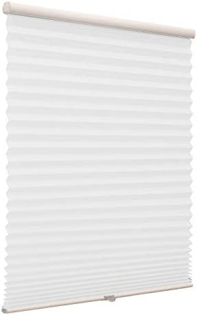 Amazon Com Cordless Pleated Window Shades Free Stop Custom Made Any Size From 20 78inch Wide Light Filtering Uv Protection White Window Blinds 75 W X 36 L Home Kitchen