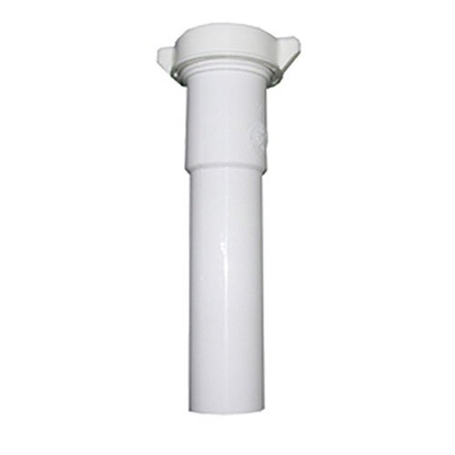 - LASCO 03-4323 White Plastic Tubular 1-1/2-Inch by 8-Inch Slip Joint Extension with Nut and Washer