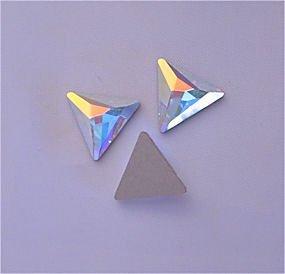 Swarovski Crystal Triangle (SWAROVSKI Flatback Cosmic Triangle CRYSTAL AB 9mm)