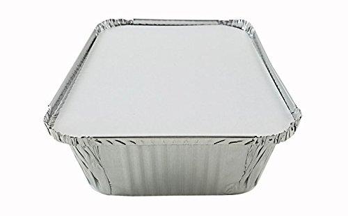 Handi-Foil 5 lb. Oblong Aluminum Entrée Dinner Food Storage Pan w/Board Lid (pack of 12)