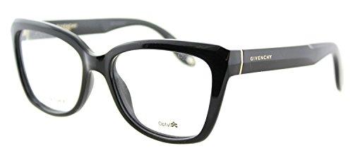 Givenchy GV 0005 D28 Black Plastic Cat-Eye Eyeglasses - Glasses Givenchy