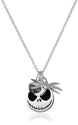 Disney-Sterling-Silver-Nightmare-Before-Christmas-Charm-Necklace-with-Black-Diamond-Colored-Swarovski-Bead-Pendant-Necklace--18