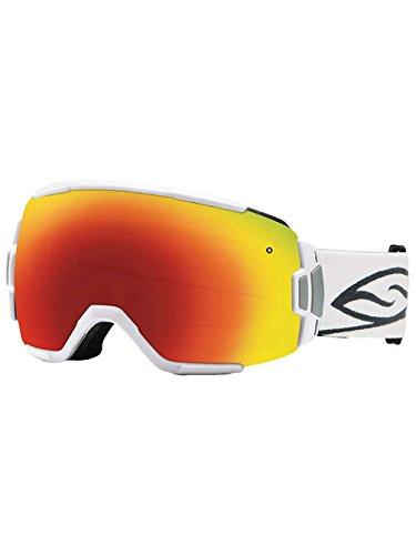 Smith Optics Vice Goggle White Block with Blue Sensor - Goggles Rimless