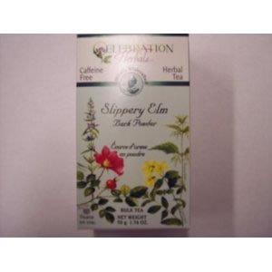 Празднование Herbals Скользкий коры вяза порошковой массы, чай без кофеина - 65 грамм