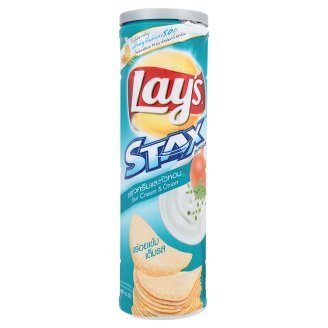 Lay's Stax Sour Cream & Onion Flavour Potato Crisp 110g Sour Cream Cookies Christmas