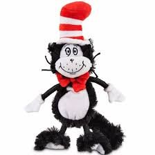 Cat In The Hats (Dr. Seuss Cat In the Hat Flat Dog Toy, Medium)