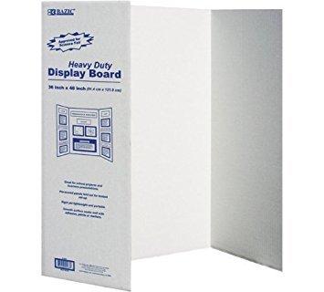 (BAZIC Tri-Fold Corrugated Presentation Board, 36 x 48 Inch (2-Pack))