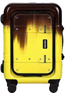 b78217acfa スーツケース S サイズ フロントオープン トランク 小型 アルミフレーム 前開きポケット ABS+PC 計8