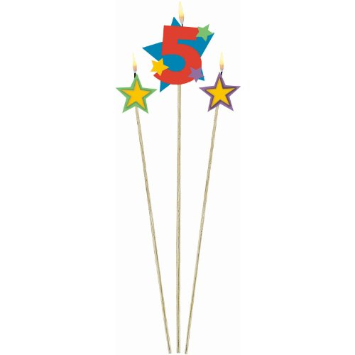 #5 Decorative Birthday Candle &Star Candles   Party
