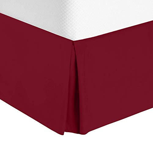 Nestl Bedding Pleated Bed Skirt - Luxury Microfiber Dust Ruffle, 14