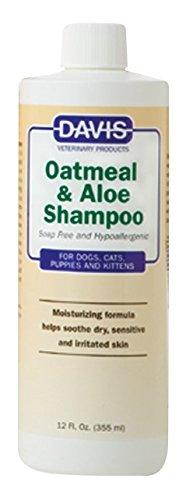 Davis Hypoallergenic Shampoo - Davis Oatmeal and Aloe Dog and Cat Shampoo, 12-Ounce