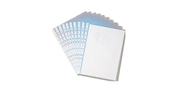 Qty 200 A4 fundas multiusos documentos perforadas fundas plásticas con solapa para con todos los para archivador lima de: Amazon.es: Oficina y papelería