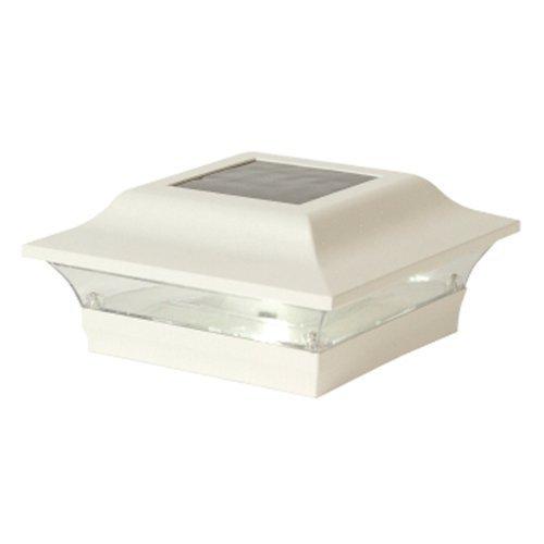 White Aluminum Imperial Solar Post Cap - Size 5x5