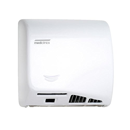60 Sec Epoxy (Saniflow M06A Speedflow Automatic Hand Dryer Steel White Epoxy Finish, 1/3 HP Motor, 4.200 – 8.200 R.P.M., 900 W (450 + 450 W) Heating element, 36-58 CFM Effective airflow, 43-70 CFM Free airflow, 64-70 dB Noise level at 79'', 4.920- 9.840 LFM Air speed)
