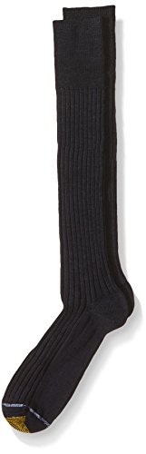 (Gold Toe Men's Windsor Wool-Blend Over-The-Calf Dress Sock (Three-Pack), Navy, 10-13 (Shoe Size 6-12.5) )