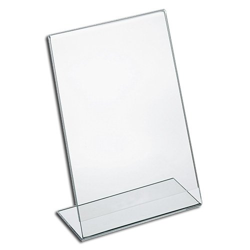 Dazzling Displays 50-pack Acrylic 8.5 x 11 Slanted Sign Holders by Dazzling Displays