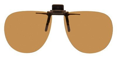 Polarized Clip-on Flip-up Plastic Sunglasses - Aviator - 58mm Wide X 52mm High (134mm Wide) - Polarized Brown Lenses by Shade Control G-Clips