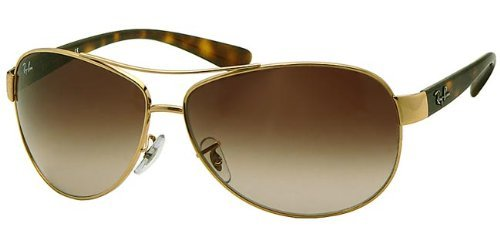 Ray-Ban Sunglasses - RB3386 / Frame: Gold Lens: Brown Gradient - Ray Sunglasses Gold Ban