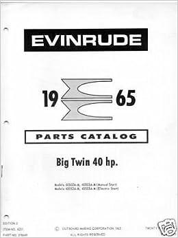 evinrude parts manuals