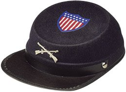 Civil War Cap Econo Blue Adult Costume Blue - Large