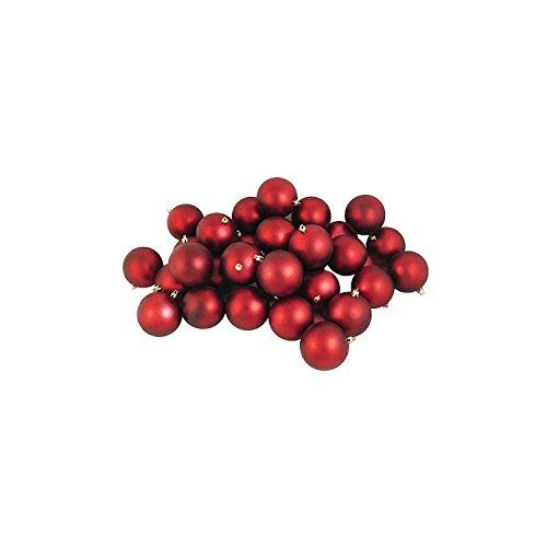 Northlight 32 Count Matte Hot Shatterproof Christmas Ball Ornaments, 3.25