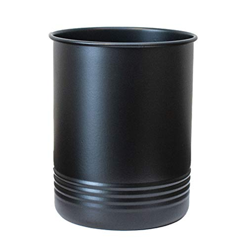 Large Black Utensil Holder - Kitchen Utensil Crock- to Organize Your Kitchen Gadgets and Cooking Utensils