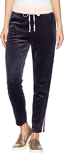 - Juicy Couture Women's Track Lightweight Velour Stripe Pants Regal/Morning Blush Medium 26.5