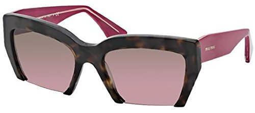 Miu Miu 11OS 2AU5P1 Havana 11OS Rasoir Cats Eyes Sunglasses Lens Category - Cats Miu Sunglasses Miu Eye
